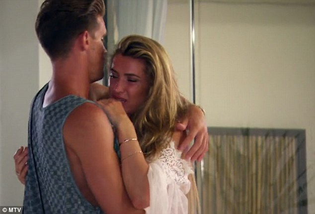 Inconsolable:The following day an emotional Lillie told the camera that she'll always love Gaz in some way