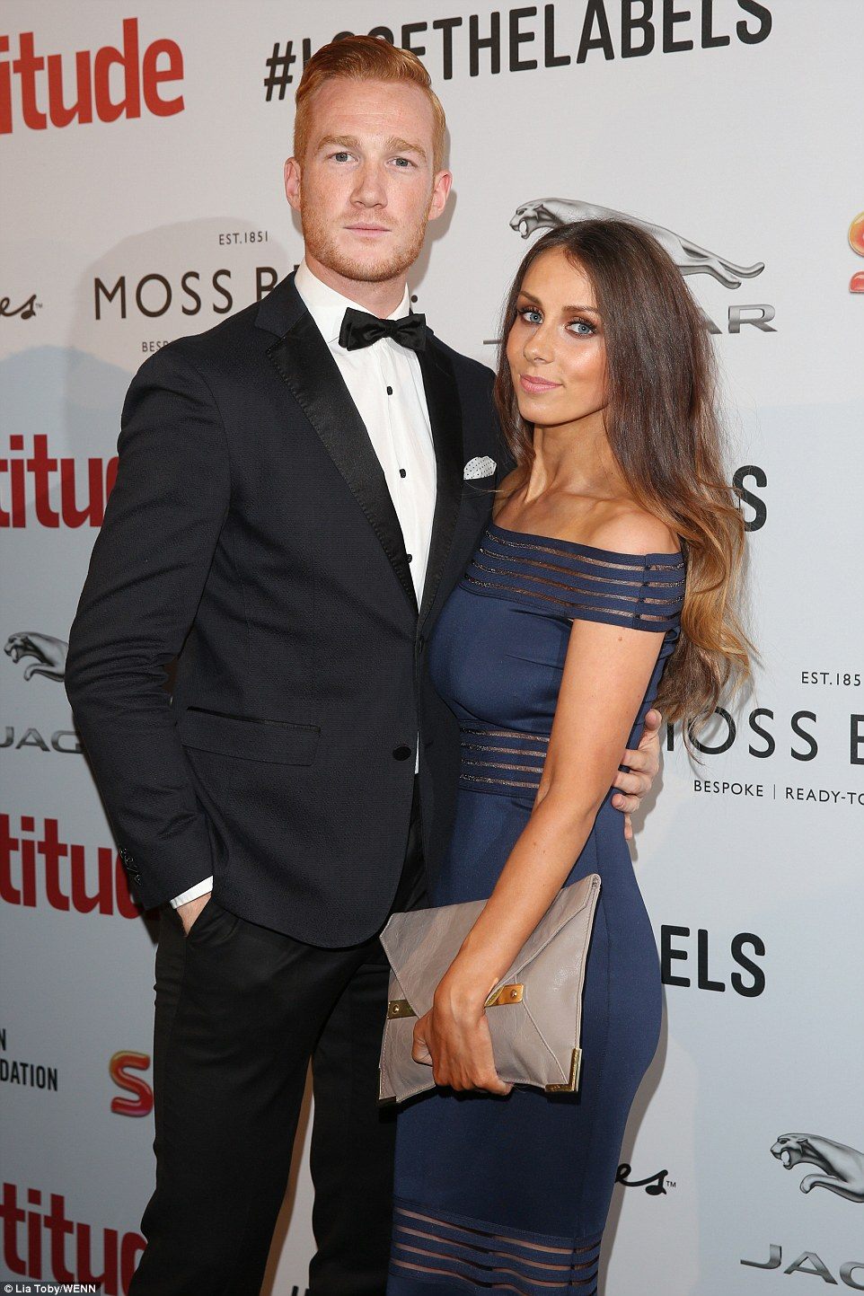 The happy couple: Yet another star from this year's Strictly intake was Olympian Greg Rutherford. The track and field athlete cut an extremely dashing figure in a tuxedo