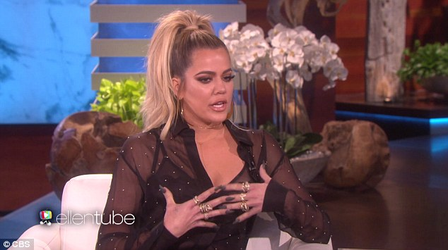 Speaking out: Khloe Kardashian broke her silence on the jewelry heist that saw her sister Kim robbed of over $10 million as she appeared on The Ellen DeGeneres Show