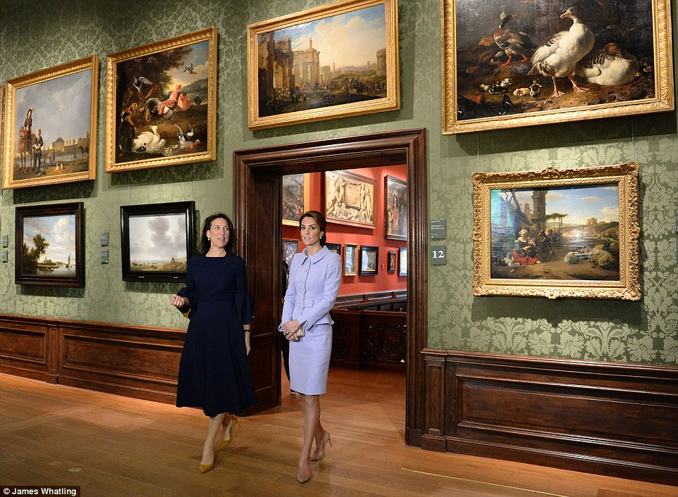 The Duchess of Cambridge visits the Mauritshuis in The Hague for the exhibition 'At Home in Holland: Vermeer and his Contemporaries from the British Royal Collection'