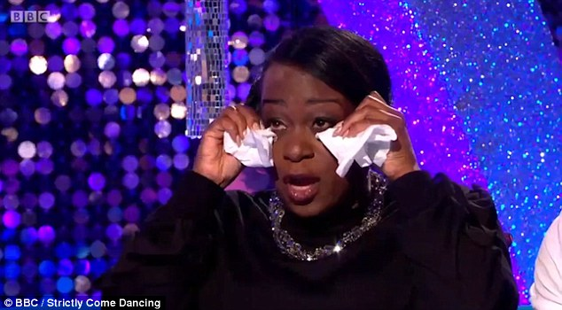 Angry: Tameka Empson appeared to throw her support behind the race row as she appeared on the show's spin-off programme It Takes Two, revealing she was not prepared to leave