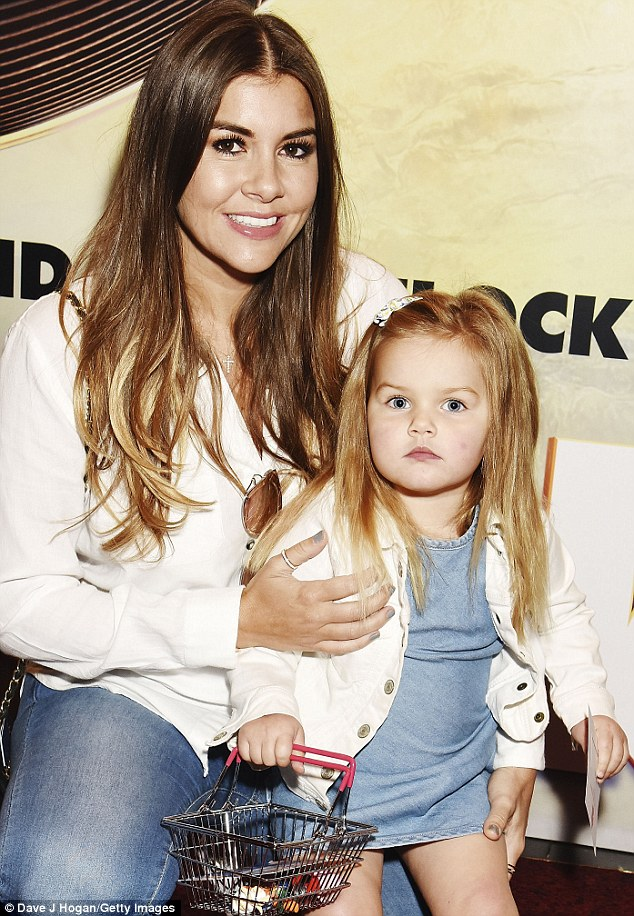 Twins: Imogen enjoyed a mother and daughter day with her eldest Ariana, 3,  at the screening of Stork at Cineworld, Leicester Square on Sunday