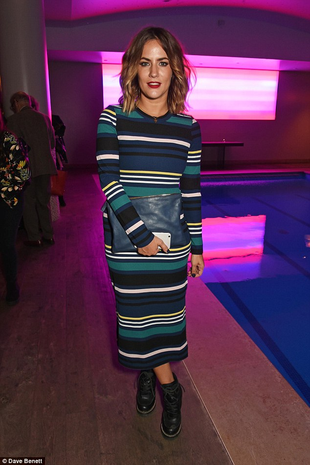 Fashionista: Caroline impressed on the style front as she attended the press night after-party for The Libertine at the Haymarket Hotel last week
