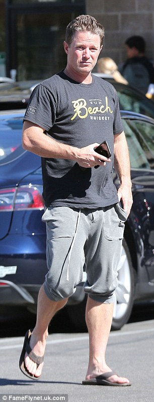 Suspended host Billy Bush stepped out for lunch on Monday (pictured)