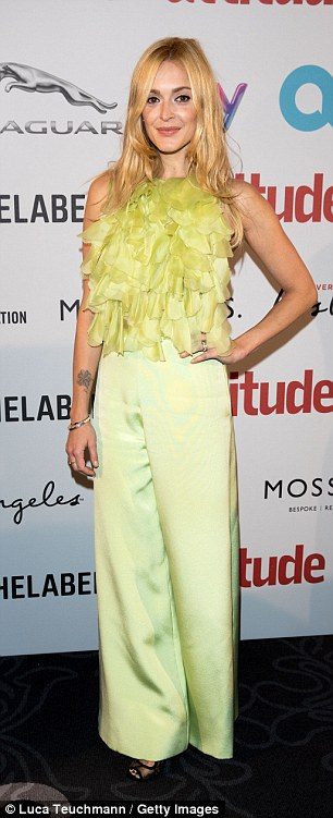 Standing out: Fearne Cotton opted for a splash of colour with her ensemble