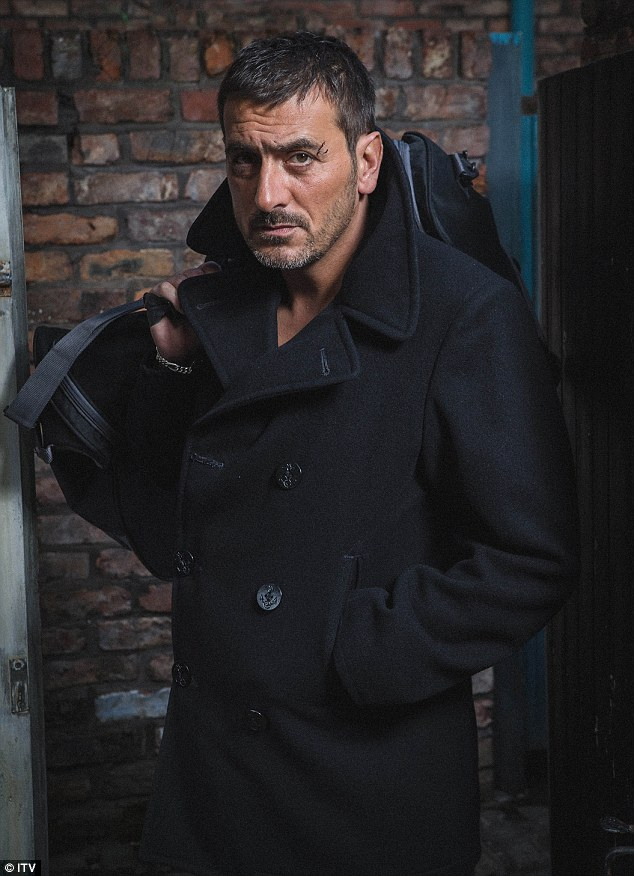 Look who's back: Elsewhere an unemployed Peter Barlow returns to the cobbles with a suspicious looking cut on his face