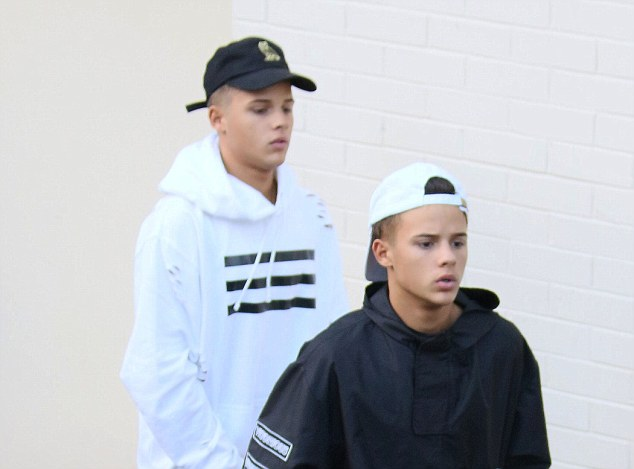 Decision time?: The Brooks on Sunday morning, leaving the X Factor studios after spending about one hour inside