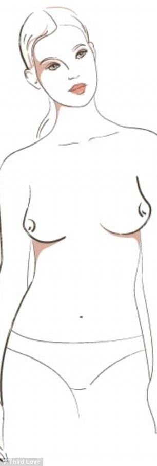 If you have smaller breasts that gravitate to the outside of the chest then you're an East West and a t-shirt bra will help to create a smooth silhouette and pull the breasts in