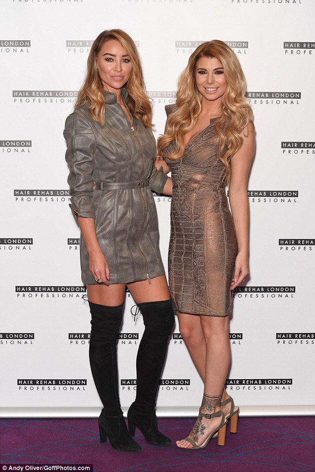New friends: Olivia has befriended TOWIE star Lauren Pope (left), who asked her to come on board for the collab