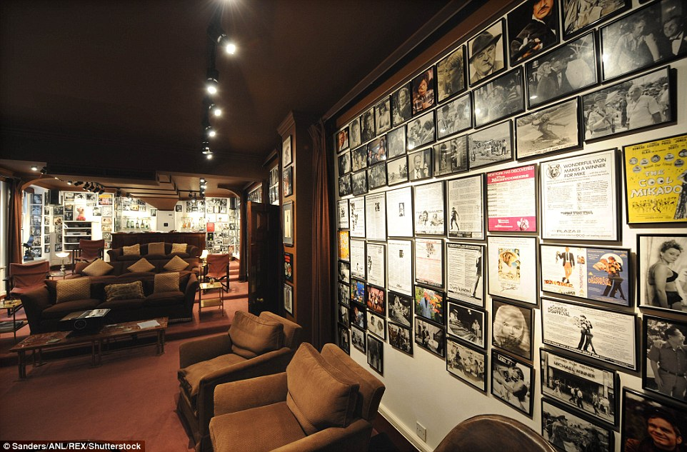 Another lounge featured walls adorned with film posters and stills from classic movies, plus comfy sofas for watching