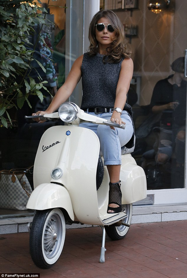 Strike a pose: At one point Chloe could be seen posing on a vintage Vespa to complete her back-in-the-day aesthetic