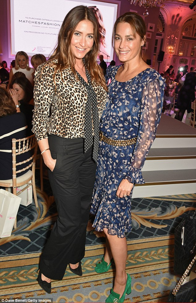 Standing out: Also putting on bright patterned displays were pals Lisa Snowdon and Yasmin Le Bon