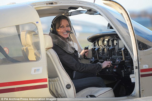 Come fly with me: Carol obtained her pilot's licence two years ago and will be flying a Diamond DA42 twin-engine propeller plane nicknamed Mildred