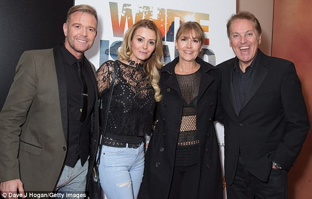 Friends in high places: The couple attended the premiere alongside Brian Connolly and his wife Anne-Marie