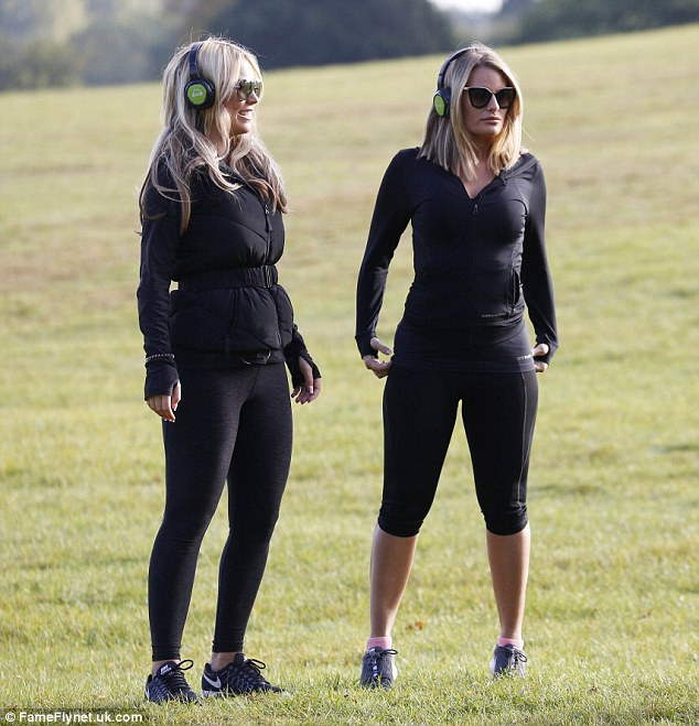 BFFs: The pals complemented each other in all black looks