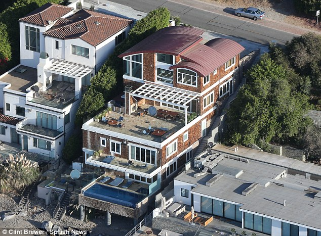 Welcome to my crib: James Corden, 38, is renting this luxury beachfront home in Los Angeles for a staggering £64,000 ($80,000) a month - after his success over in the States