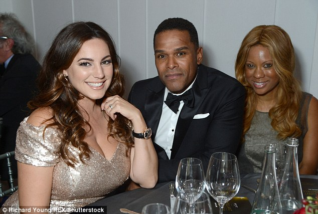 Three's a coolc rowd: Kelly Brook and Maxwell 'Brilliant is Beautiful' Gala at Claridge's, London