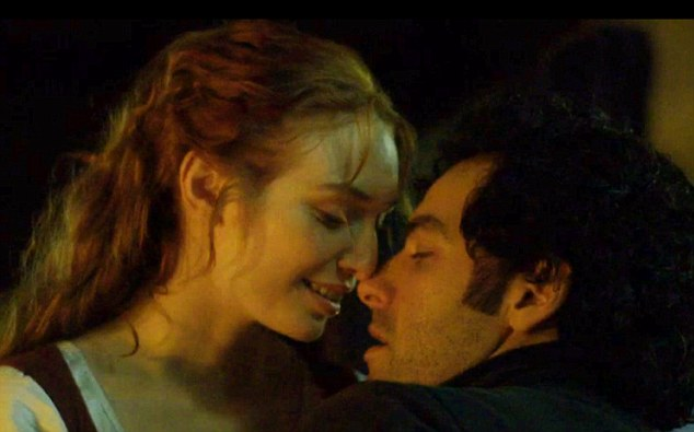 'Sales of stockings to rise for the forseeable future' Demelza (Eleanor Tomlinson) was impressed with Poldark's ways with hosiery and the couple reunited in a passionate embrace