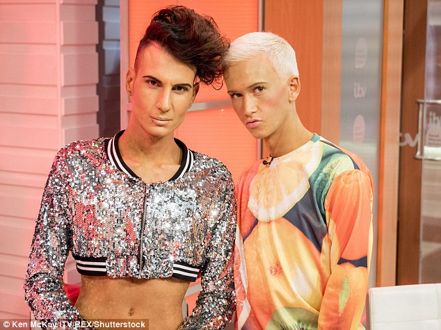 Grilling: Bradley and Ottavio endured an interrogation by Piers Morgan on Monday's Good Morning Britain about fellow contestant Honey G