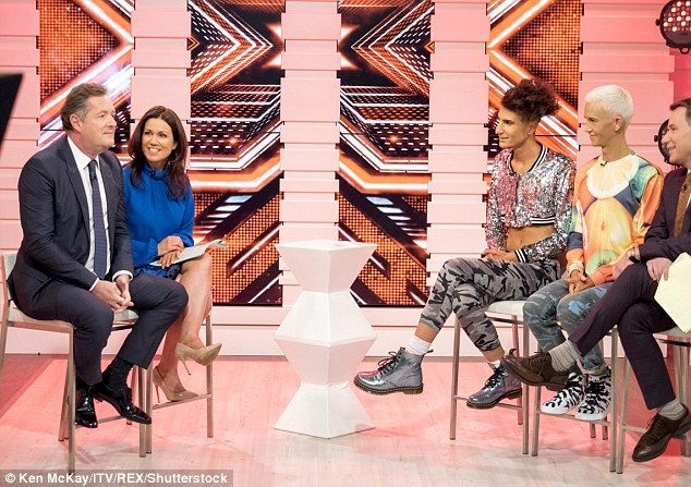 Radio silence: As an awkward silence suddenly descended on the interview, Bradley insisted the talent show hopeful can rap and is a genuine person