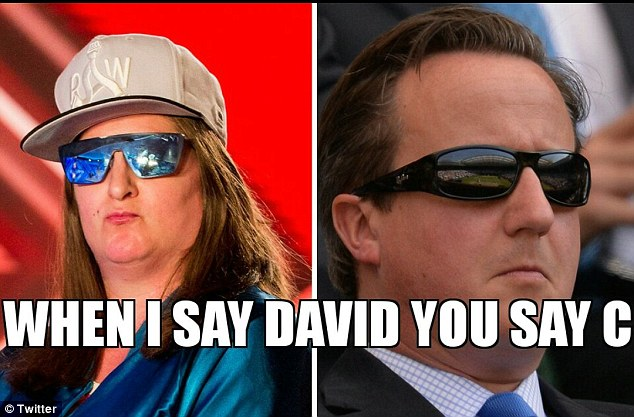 Social media was awash with memes comparing the pop hopeful's similarity to ex-prime minister David Cameron
