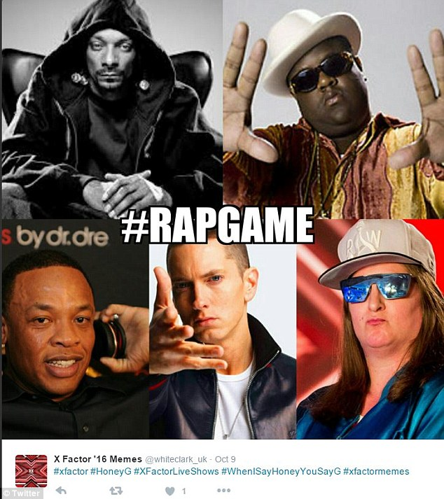 Rapping legend? But behind the sunglasses, shiny jacket and huge gap it turns out Honey G is really a director at an IT recruitment consultancy