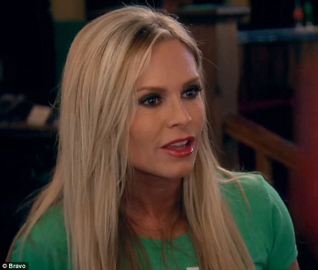 Got angry: Tamra Judge raged against Kelly Dodd and struck her on Monday's episode of The Real Housewives Of Orange County
