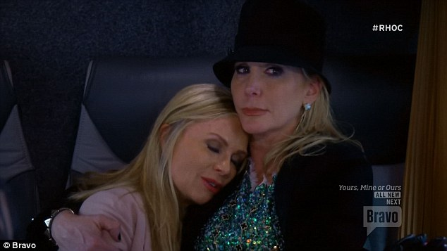 Feelings hurt: Tamra consoled by Shannon after her confrontation with Kelly