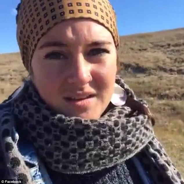 'When you asked us to leave we did': Shailene attempted to tell officers that the protest was peaceful
