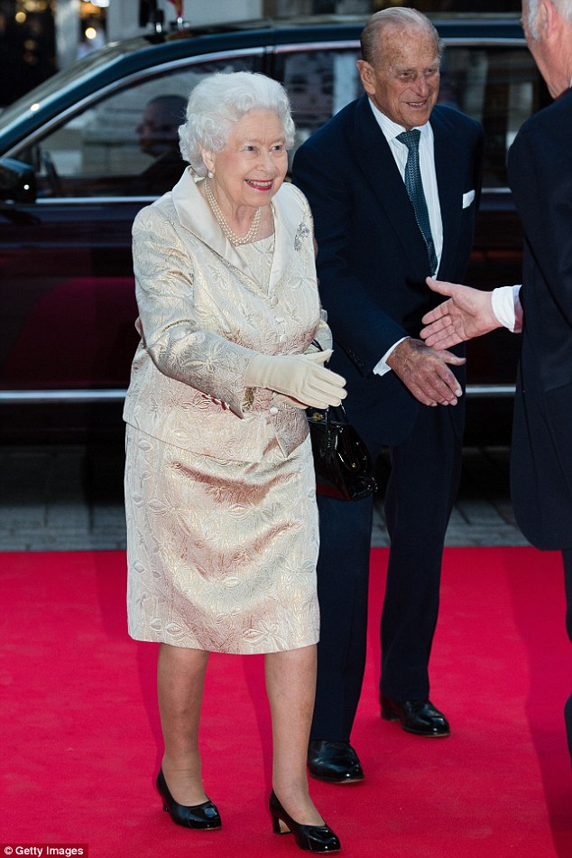 Your public awaits: The Royal couple gleefully greeted attendees as they arrived at the event