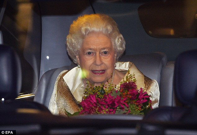 Fit for a Queen: The monarch was prized with a pair of stunning purple flowers