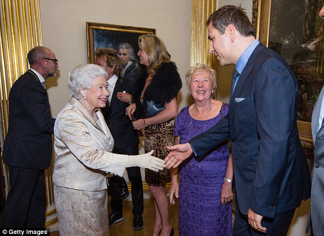 That's my boy! David Walliams' mum Kathleen looked on with pride as her son met the Queen