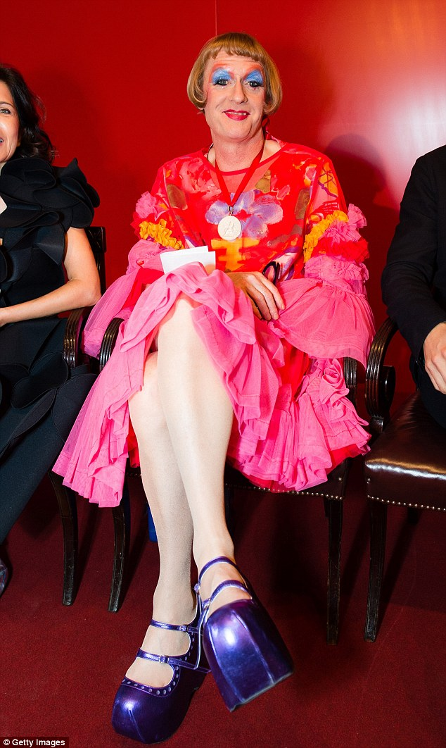 He's got sole! Artist Grayson Perry stepped out in particularly eye-catching style at the event