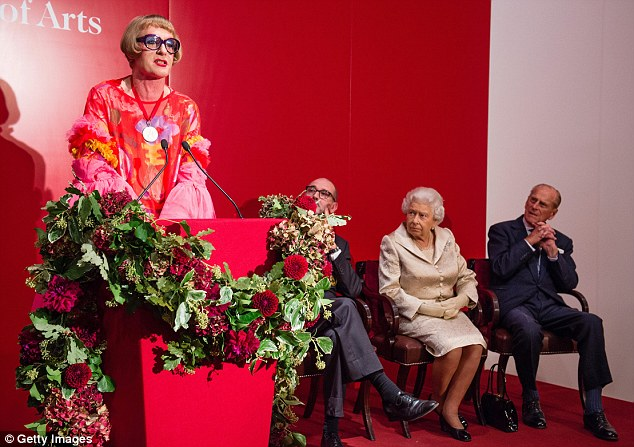 All ears: The Royals listened intently as Grayson later took to the stage to make a speech
