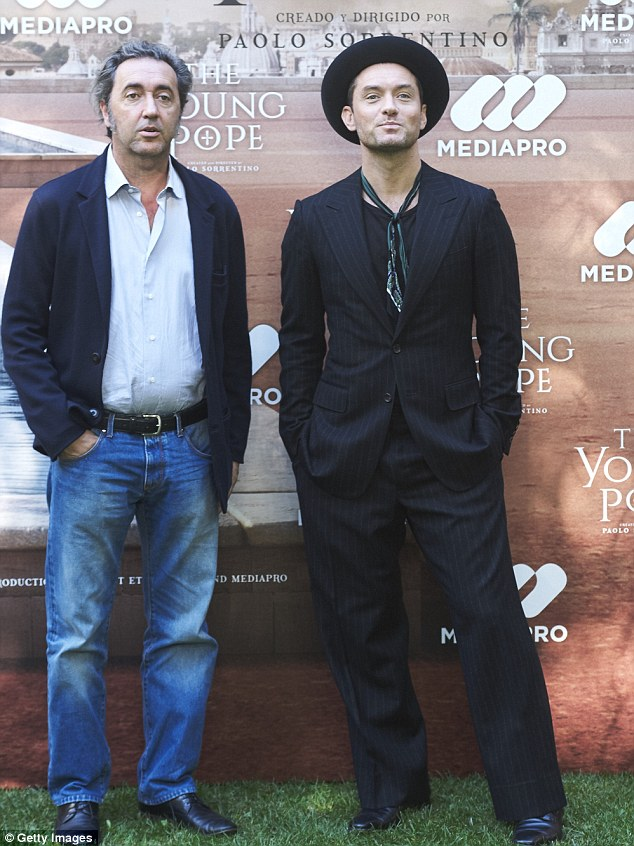 Thrilled: Jude said he was thrilled to be given the opportunity to work with the director Paolo