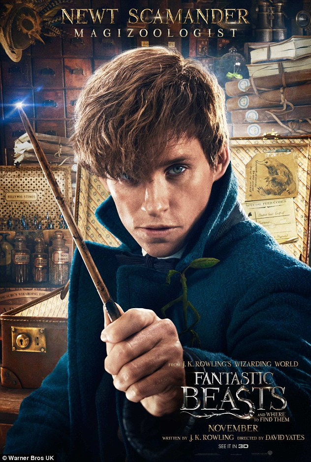 Magical: Fans of Harry Potter will no doubt be thrilled with the release of eye-catching character posters from the franchise's spin-off Fantastic Beasts And Where To Find Them