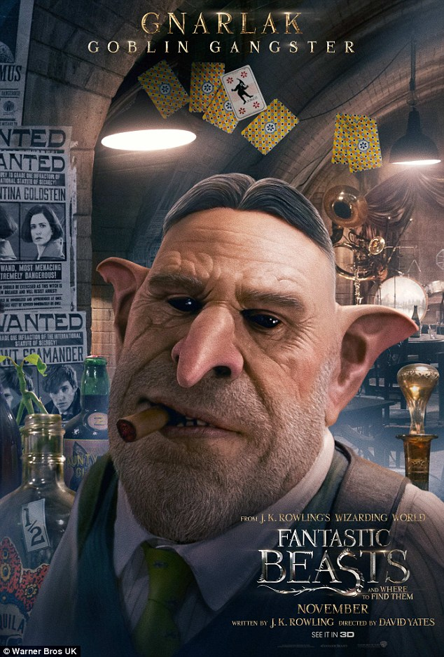Don't mess: Ron Perlman, 66, brings his trademark menace as goblin gangster Knarlack