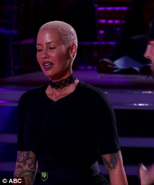 Not so Rosy: Amber Rose provided plenty of drama on the episode, as viewers saw her grueling practices in preparation for the prime-time program