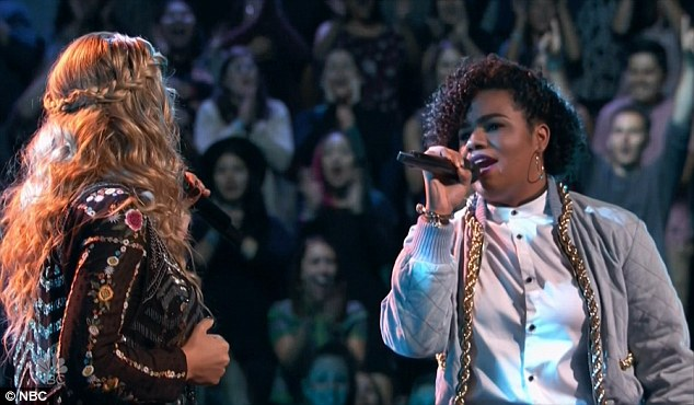 Battle rounds: Wé McDonald, right, won her battle round against Lauren and remained on Alicia Keys's team