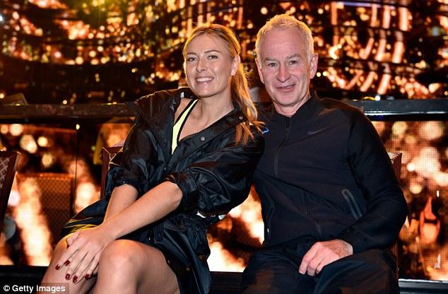 Tennis champs:Maria Sharapova and  John McEnroe shared some tips behind the scenes
