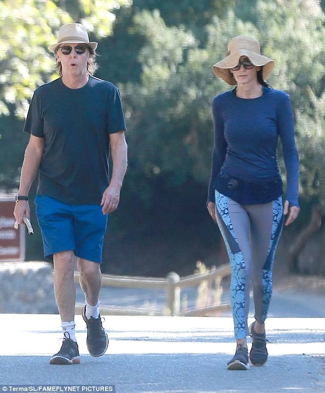 The long and winding road: Paul McCartney and Nancy Shevell hiked in Beverly Hills between Desert Trip gigs on Monday