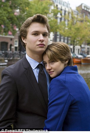 Got her back: Elgort was outspoken in his support for his co-star on Monday