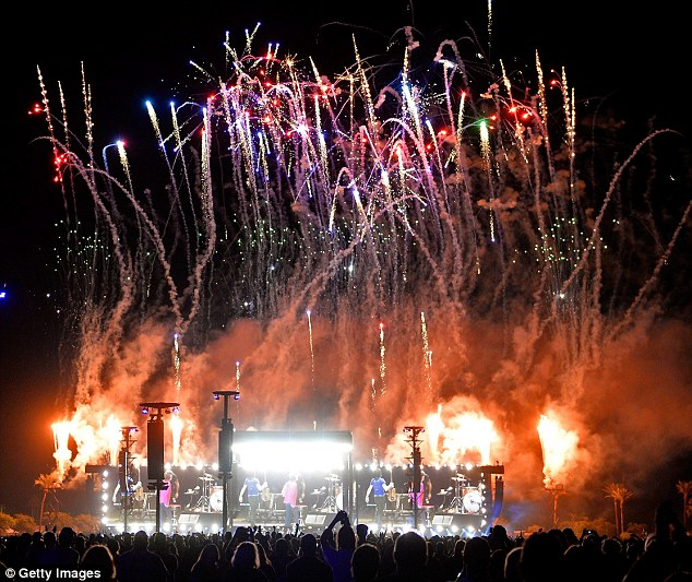 Raking it in: With more than 150,000 people attending, the festival ¿ which was two years in the making ¿ was predicted to make at least £117 million in ticket sales, hospitality and merchandising
