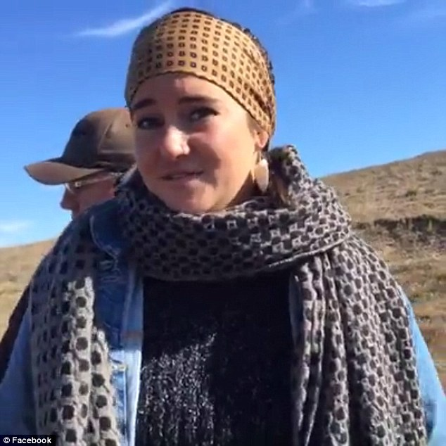 'You're going to be placed under arrest': Shailene was told she had been 'identified' and was being arrested for 'criminal trespassing'