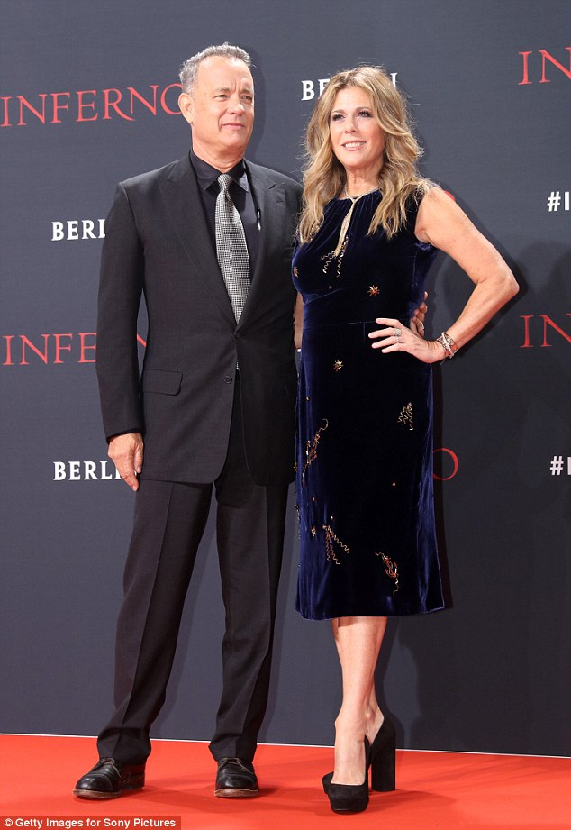 Looking good: The loved-up couple were the VIP guests at the Inferno premiere in Berlin's Sony Centre, where they put on a glam display