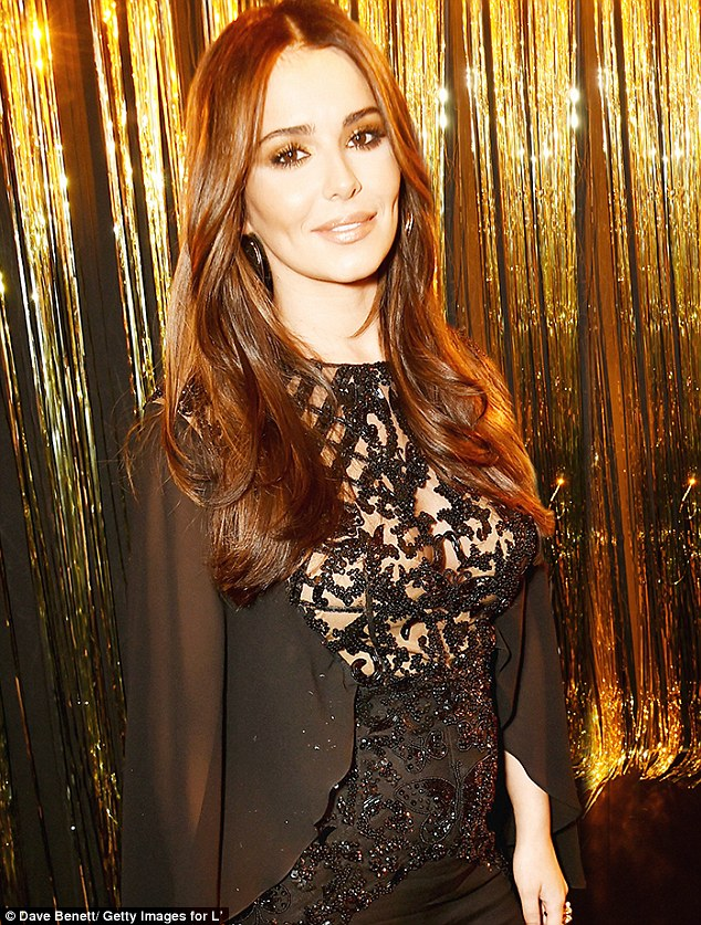 New curves: The claims come days after Cheryl appeared to unveil a fuller figure, looking incredible at the L'Oreal Paris Gold Obsession Party a week ago