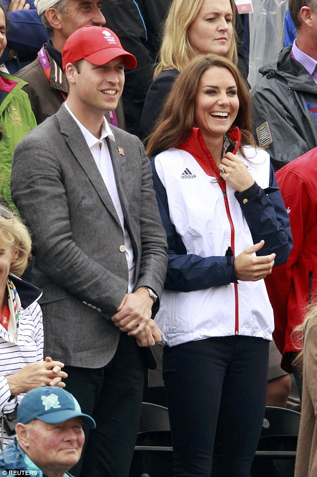 In terms of casula jackets, crumpled and ill-fitting jackets have been ditched. Pictured: The couple at the 2012 Olympic Games