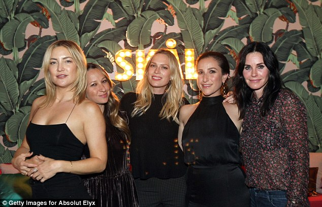 Yet another VIP: Kate Hudson, far left, was also at the exclusive bash