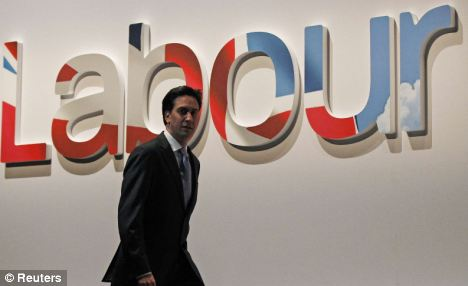 Gloom: Mr Miliband is being served notice that he has 12 months by senior Labour figures to turn around his faltering leadership