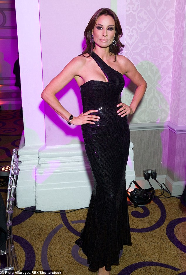 Slinky: Mel in a stunning one-shouldered dress at the LGBT awards back in May